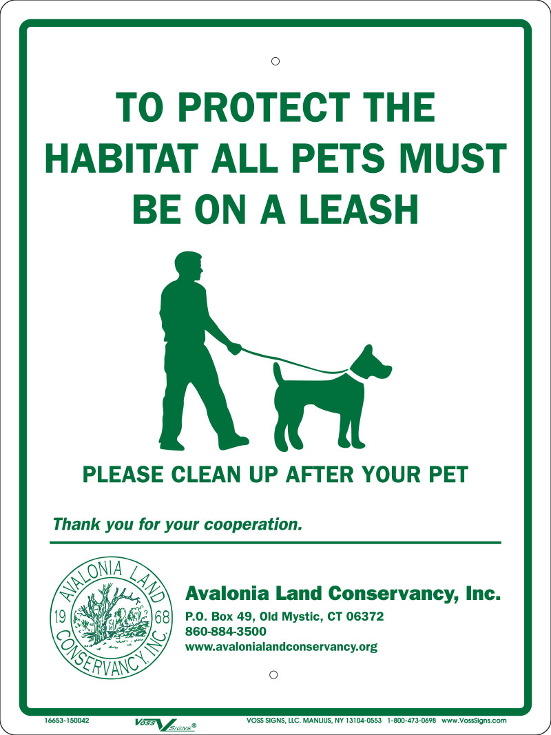 to protect the habitat all pets must be on a leash