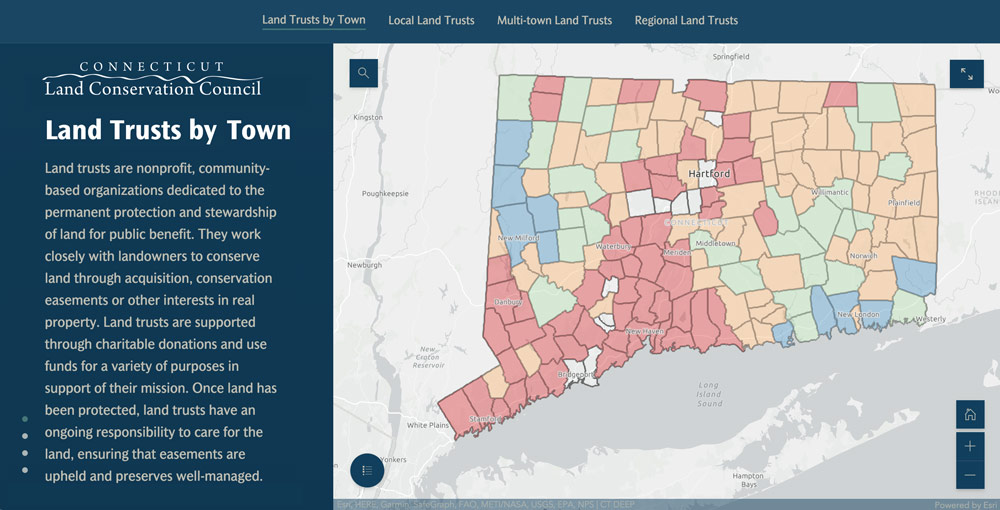 link to several maps plotting land trust