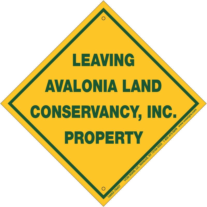 property boundary line sign
